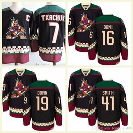 2018 Wholesale Phoenix Coyotes 19 Shane Doan 97 Jeremy Roenick 7 Keith  Tkachuk Hockey Jersey Ice Winter Jersey All Stitched Black White fadff029b