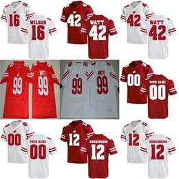 cheap Wisconsin Badgers College 67 Jon Dietzen 2017 NEW Red White Elite Stitched  Customized Mens Womens Kids Best Quality Football Jerseys 3735ffd7c