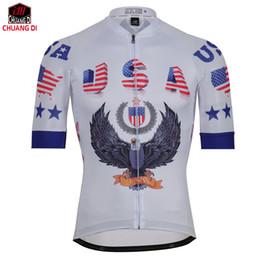Canada Nouveau USA Sports Wear Mens Cyclisme Jersey Cyclisme Vêtements Vélo Shirt Taille S À 3XL cheap usa sports clothing Offre