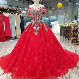 483c36a72 2019 vestidos de beleza noite do ombro 2019 Flowers Vintage nupcial Red  Dresses Prom partido fora