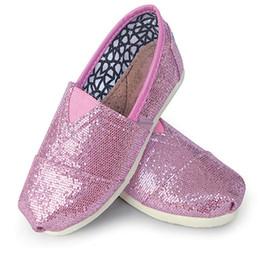 Lentejuelas para niños Zapatillas de deporte Chicos de verano Zapatos de lona escotados Sirena plana bling Zapatos deportivos sin cordones con cordones Zapatillas de deporte ocasionales desde fabricantes