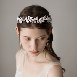 bridesmaids fascinators Promo Codes - Gold Wedding Bridal Bridesmaid  Headbands Bohemian Rhinestone Hair Accessories Headpiece Tiara cd5a877503a