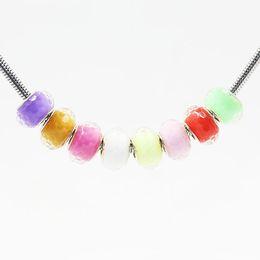 brazalete de jalea Rebajas Granos del encanto de la pulsera de bricolaje Granos de plástico de la jalea del agujero cabido color de la mezcla de la pulsera