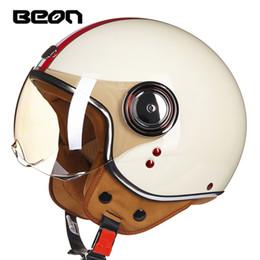 Casco capacetes moto on-line-Capacete Da Motocicleta Chopper 3/4 Rosto Aberto Do Vintage Capacete Moto Casco Casco Capacete Das Mulheres Dos Homens de Scooter de Moto