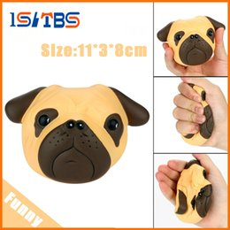Wholesale Dog Squeeze Toys - Fun antistress ball Pug Dog Mini Squeeze Squishy Toys Slow Rising 8cm Squeeze Stretchy Animal Healing Stress kids adults toys
