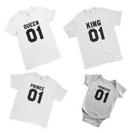 e7ade2779db King Queen Prince Princess Kids Baby Matching Family Couple Team T-Shirt  Cool Casual pride t shirt men Unisex New Fashion
