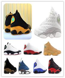 2019 scarpe nere per scuola 13 melo torna a scuola 13s He Got Game Phantom Olive Chicago allevato scarpe da pallacanestro XIII Wheat nero Università oro scarpe da ginnastica sportive rosse sconti scarpe nere per scuola