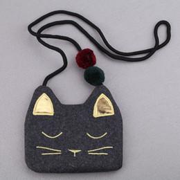 Sacchetto coreano del gatto sveglio online-JC BAMBINI Neonate stile coreano Cute Cat Shap Bag Bambini Moda cotone moneta borsa accessori per bambini