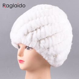 eeccb79cd61 Raglaido Russian Winter Hats for Women Real Rabbit Fur Beanies 2017 New  fashion Ladies knitted genuine fur cap LQ11234 ladies russian hats on sale