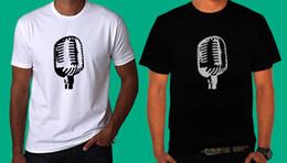 Logos de micrófonos online-Nuevo Shure 55a Fatboy Microphone Logo camiseta en blanco y negro TEE XS-3XL