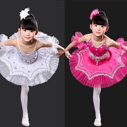 Argentina Negro Kids Professional Swan Lake Tutu desgaste de la danza Vestido de los niños Ballet Dancing Dress Disfraces de la etapa Kids Girl Ballet cheap dance stage wear girl Suministro