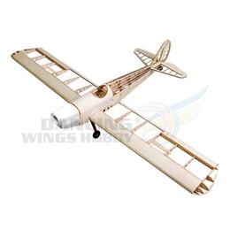 Kits de avião modelo elétrico on-line-Avião de Madeira Balsa RC Avião Modelo Espaço Walker GasElectric Alimentado RC Avião 1230mm Modelo de Corte A Laser Kits de Construção de Aeronave