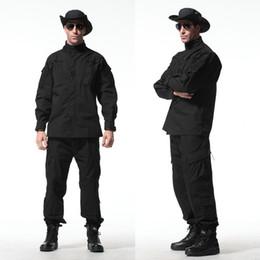 trajes de combate negros Rebajas Ejército de los EE. UU. ACU Desert Paintball Clothes Tactical Hunting traje de camuflaje al aire libre traje conjunto Combat Clothes negro