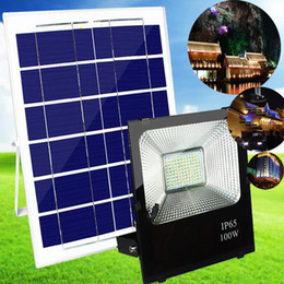 Apparecchio ip65 online-Solar Flood Light, JPLSK Dusk to Dawn 6W Pannello solare 54 LED IP65 Impermeabile Solar Powered Flood Light Outdoor Security Light Fixture per bandiera
