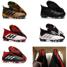 Wholesale Massage 18 - New High Original Football Boots ACE Predator 18+ FG Copa Tango TF ic Soccer Shoes Mens Outdoor Indoor Soccer Cleats Turf Mens Accelerator