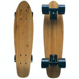 "Padrão de skate on-line-22 ""X 6"" Mini Cruiser Maple Bambu Skates Retro Padrão Skate Board Longboard"