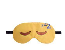 Спящие маски с завязанными глазами онлайн-Прекрасный Emoji Nap уход за глазами тени с завязанными глазами Маска сна глаза обложка спальный мультфильм 3D печать Спящая маска для глаз