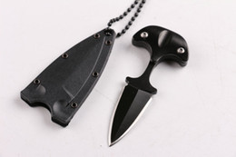 Wholesale Cold Steel Karambit - Newest Cold steel style URBAN PAL 43LS small Fixed blade knife Fox karambit pocket knife tactical knife with K sheath and necklace B283L