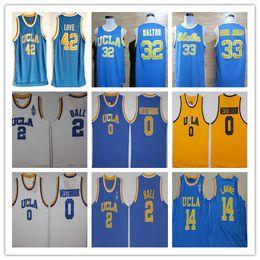 2020 bolas de naranja UCLA Bruins College Basketball Blue Russell Westbrook Lonzo Ball Zach LaVine Kareem Abdul Jabbar Reggie Miller Bill Walton Kevin Love Jersey rebajas bolas de naranja