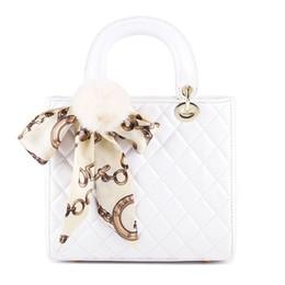 Wholesale White Scarf Balls - wholesale  new 2018 fashion women handbags famous designer scarves hair ball shoulder bags female totes crossbody black pink white