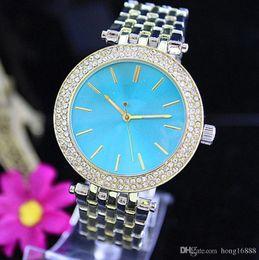 3f94d3e6a Moda de Luxo de Quartzo Casual Assista Double Row Luxo Cristal de Diamante  Moderna Elegante Grande Terno das Mulheres Relógio de fábrica por atacado  Frete ...
