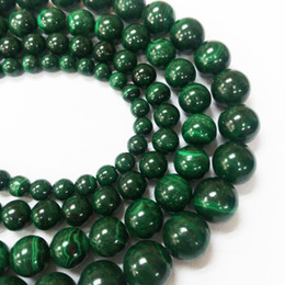 Wholesale Malachite Cross - YesGem AAAAA Natural Wholesale natural 8mm smooth round green malachite beads stone for jewelry making design with Freeshipping