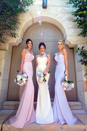 robe décapotable longue et peu coûteuse Promotion Convertible sirène longues robes de demoiselle d'honneur 2018 nouveau lilas une épaule pas cher élégant mariage Party Wear Vintage robes de bal arabes