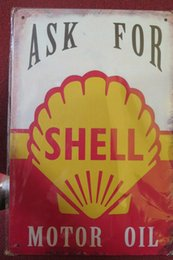 Wholesale Oil Lubricate - all best shell mptor sports lubricating oil sinclair motor oil Vintage Tin Signs Retro Metal Sign Painting Decor The Wall Mixed designs