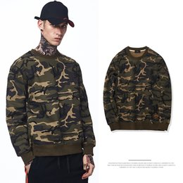 Wholesale Military Style Winter Coats Men - Men's Autumn and Winter Fashion Casual Comfortable Sweater War Camouflage Plus Cashmere Round Neck Coat Military Style