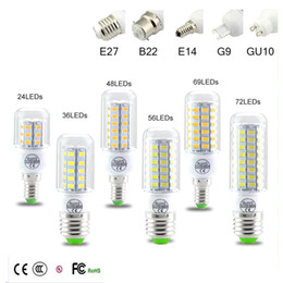 Wholesale e27 led lamp 1w - SMD5730 E27 GU10 B22 E14 G9 LED lamp 7W 12W 15W 18W 20W 220V 110V 360 angle SMD LED Bulb Led Corn light