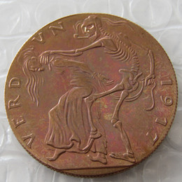 Wholesale Art Castings - GERMANY, VERDUN 1917 ,100% Copper or Silver Plated,CAST BRONZE MEDAL BY KARL GOETZ, ENGLAND AND FRANCE AS DEA Copy Coins