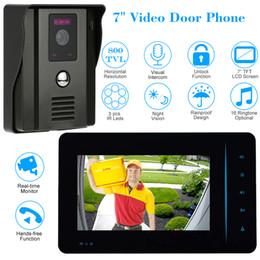Wholesale Wired Video Intercom - 4 Wire 800TVL Video Door Phone Doorbell Intercom System Two-way Audio Unlock IR Night Vision Outdoor Camera Indoor 7 inch TFT LCD Monitor