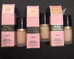 Wholesale Foundation Coverage - Factory Price Faced Cosmetic Born This Way COVERAGE Liquid Foundation 6 color 30ML DHL Ship