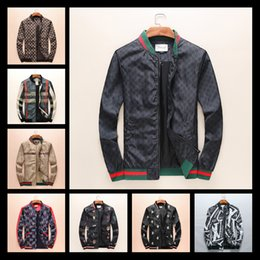 Wholesale Casual Hoodie Jacket - 2018 Fashion Mens Windbreaker Autumn Jacket With Hoodies Tiger Embroidery Designer Brand Jacket Coat Luxury Brand Jacket Men