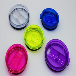 Wholesale Wholesale Clear Plastic Cups - For 20oz 30oz Tumbler mugs Colorful Leakproof Cups lids Splash Clear Spill Proof Lids Covers Sprillproof drinkware Lids
