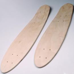 rollerhandtaschen Rabatt 24/27 Zoll 7-Schicht Maple Blank Skateboard Deck Skate Board konkav Kick Decks Skate Board grobe Sandpapier für Longboard DIY Teil