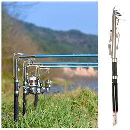 commercio all'ingrosso 2.1 / 2.4 / 2.7m canna da pesca automatica telescopica canna da pesce di mare canna da pesca canna da pesca carpa attrezzatura da pesca estremità campo taglio de pesca da