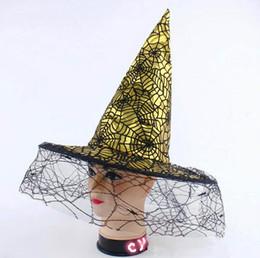 2019 habiller les chapeaux Chapeau de sorcière d'Halloween avec araignée Costume d'Halloween CosplayActivités de soirée habiller les chapeaux pas cher