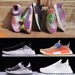 Wholesale Highest Human - New designer running Shoes Pharrell Williams X NMD Human Race Blank Canvas Holi Equality High quality Runner men & women sports Sneakers