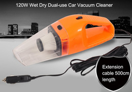 Wholesale Portable Dust Vacuum - New Hand Mini Car Vacuum Cleaner 12v 120w Portable Handheld Wet Dry Dual -Use Super Suction Dust Cleaner Catcher Collector