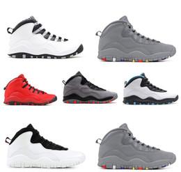 zapato trasero Rebajas con la caja 2018 zapatos de baloncesto 10S X para hombre XIV Im Back Cool gris polvo azul para hombre Zapatos deportivos de diseñador de la marca US8-13