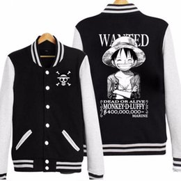 Japan Anime One Piece Monkey D Luffy Pirate Wanted Cosplay Cappello di  paglia Skull Baseball Jacket coat sconti un pezzo di pirata anime e93ff4832e3d