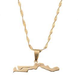 artigos do presente da jóia Desconto Gâmbia Mapa Bandeira Colar Pingentes de Ouro Cor Jóias Gambian Item Presentes
