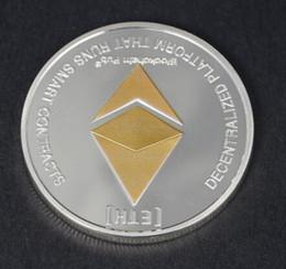 Canada Gold / Silver Ethereum Replica Art Collection Cadeau Physique Metal Antique Imitation Non-monnaie Copie Pièces Collectibles Livraison Gratuite Offre