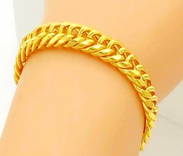 628a363bc Fashion men and women gold bracelet gold-plated couple Long-lasting color  999 gold-plated jewelry bracelet length: 18.5-20CM 8MM 10MM 12MM.