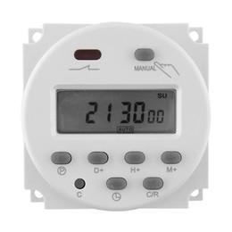 Relé temporizador dc online-Nuevo Digital LCD Power Programmable Timer Interruptor de tiempo Relé 16A AC / DC 12V 24v / AC220V 110v