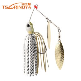buzzbait lures Promo Codes - TSURINOYA P25 Spinnerbait 10g Fishing Lure 5 PCS Lot Wobblers Metal Spoon Jig Lure Buzzbait Lure Artificial Baits Hard Bait