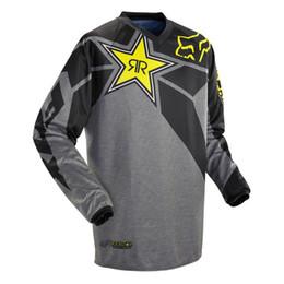 camiseta de carreras de motocross Rebajas Moto camisetas 18 nuevos Rockstar Jersey Transpirable Motocross Racing Cuesta abajo Off-road Motocicleta de montaña Sudadera Camiseta
