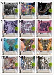 Arazzi a parete online-180 disegni appeso a parete arazzo fortunato elefante spiaggia asciugamano scialle boemia mandala stuoia di yoga tovaglia in poliestere arazzi complementi arredo casa