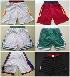 Wholesale Unisex Basketball Shorts - 2018 New BOS OKC CLE CAVS City Basketball Jersey Shorts Men Women Youth,23 LBJ 11 KI 0 RW Green White Black Red